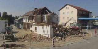 Abriss des Lüftl-Hauses in Eging am See im Jahr 2016